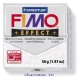 Пластика (запекаемая в печке) Fimo effect белый металлик блеск брус 56 гр 8020-052